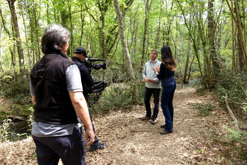 "Rai Uno's historic broadcast ""Linea Verde"" at Circeo National Park"
